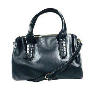 Sole Society Black Satchel Handbag
